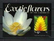 St. Kitts 2011 Sc#819   Exotic Flowers-Painted Feather  MNH Souvenir Sheet $4.50