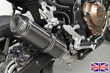 Honda CB500F 2016+ SP Diabolus Carbon Round XLS Carbon Outlet Exhaust End Can