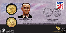 2015 Lyndon B. Johnson $1 Coin Cover (P 56) (SEALED) FREE DELIVERY IN USA