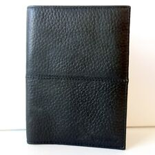 Cole Haan Pebbled Leather Bifold Wallet Black Mens Credit Card Organizer New