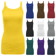 Women Cami Strappy Camisole Vest Tops Ladies Summer Casual Tank Long Tops Shirt