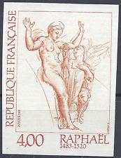 TABLEAU VENUS / PSYCHE RAPHAEL N°2264 TIMBRE NON DENTELÉ IMPERF 1983 NEUF ** MNH