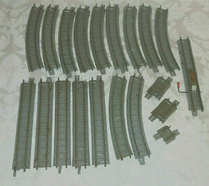TRIANG EARLY GREY TRACK JOB LOT DECENT MIX 00 GAUGE LAYOUT RAILTRACK VINTAGE