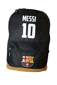 fc barcelona messi brown backpack school mochila bookbag cinch fcb mochila new
