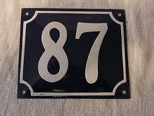 Vintage German Enamel & Iron Sign Blue House 87  #B