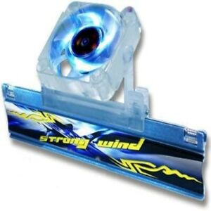 """Evercool """"Strong Wind"""" Memory Cooler & Moveable BLUE LED Fan"""
