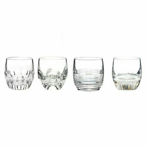 Waterford Lead Crystal Mixology Mixed Whiskey Tumblers, Set of 4 New no Box