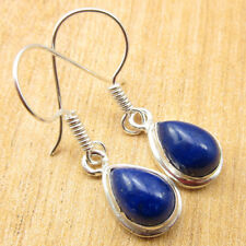 925 Silver Plated LAPIS LAZULI & Other Gemstone Earrings INDIAN JEWELRY STORE