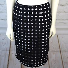 White House Black Market Polka Dot Cut-Out Pencil Skirt Career Women's sz 2 XS