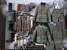 New Listing1/6 German Ww2 uniform Metal & Wood axe etc DiD 3R Bgt & Dragon Boots 4 figure