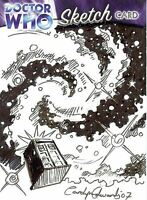 Dr Doctor Who Trilogy Sketch Card drawn by Carolyn Edwards /1 - The Tardis