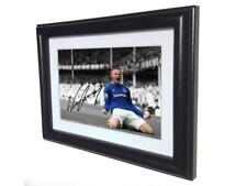 2017/18 Signed Wayne Rooney Autograph Everton Photo Photograph Picture Frame Sml