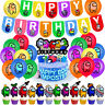 Game Birthday Party Supply Decor Balloons Banner Cupcake Topper Kids US