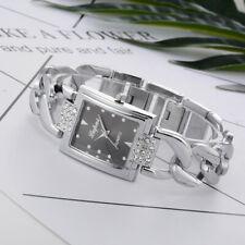 Womens Crystal Stainless Steel Watch Ladies Quartz Bracelet Wrist Watches VD