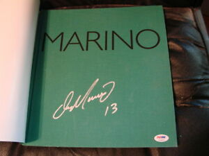 Dan Marino Autographed / Signed Book Marino on the record  PSA/DNA