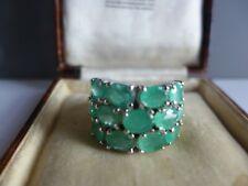Huge natural emerald silver 925 ring