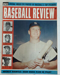 1964 Complete Sports Baseball Review Magazine Mickey Mantle,Yankees,Nice! (B135)