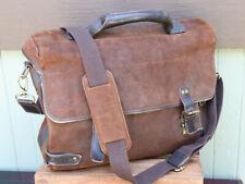 """Bosca Brown Roughout Leather Shoulder Messenger Bag 16"""""""