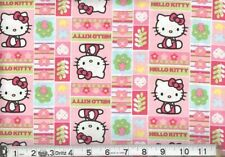 HELLO KITTY PATCHWORK FABRIC - PINK CP45982