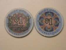 """One Royal Caribbean Cruise $1.00 Casino Chip """"BRILLIANCE OF THE SEAS"""" 2001, SUC"""
