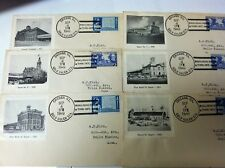 6   FIRST DAY COVERS GOLD GULCH STATIONS  1949