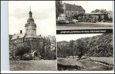 DDR Gruss v. Gartenhaus Burg Falkenstein HO-Gaststätte Postkarte