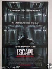 SDCC Comic Con 2013 EXCLUSIVE - Escape Plan promo poster Stallone Schwarzenegger