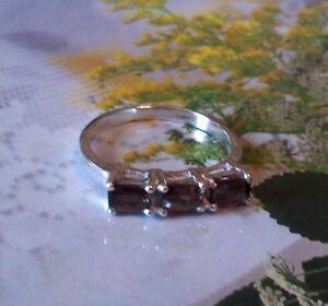 Ravishing 1.10ctw Genuine Smoky Topaz Stamped 925 Sterling Silver Ring. Sz 6.5