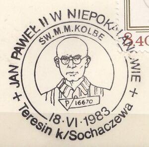 POLAND 1983.06.18 POSTMARK  Pope John Paul II, St Kolbe