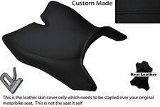 BLACK Stitch accoppiamenti personalizzati Motohispania RX 125 R 09-14 anteriore in Pelle Coprisedili