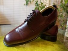 Mezlan Vintage Mens 9.5 M Burgundy Leather  Cap Toe Oxfords All Original $495.00