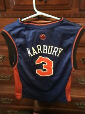 Reebok Stephon Marbury New York Knicks Basketball Jersey Youth Medium Blue  Kids 1a03c1499
