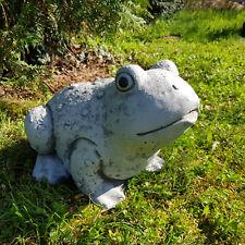 Stein Figur natürliche Erdkröte Kröte frostfest Gartenfigur aus Steinguss massiv