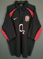 RARE MEN'S NIKE RUGBY UNION ENGLAND 2002/2003 AWAY SHIRT JERSEY MAILLOT SIZE XL