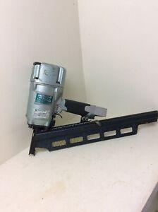 "Crisp Hitachi Koki NR83A-2 Japan Made 3.25"" Strip Framing Nailer Nail Gun Nice!"