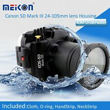 195ft Underwater Waterproof Housing Case For Canon 5D MARK III 3 24-105mm Len