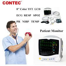 Icu 6 Parameter Vital Signs Patient Monitor Cardiac Machine Ecg Resp Nibp Spo2
