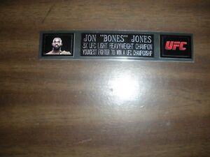 """JON """"BONES"""" JONES (UFC) ENGRAVED NAMEPLATE FOR PHOTO/POSTER/GLOVES/TRUNKS"""