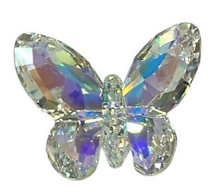 Swarovski Crystal Butterfly Aurore Borealis Figurine #0953056 Austria Orig Box