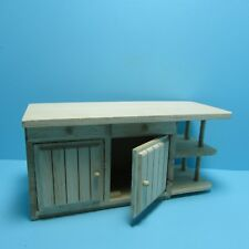 Dollhouse Miniature Unfinished Kitchen Island with Cabinets & Drawers ~ GWJ54