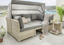 CHILL Lounge Loungegruppe Aruba Sitzgruppe Sofaset Faltdach Polyrattan Dach