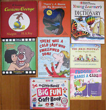 LOT 8 Picture Dictionary Curious George The Jolly Postman Jungle Book Crafts