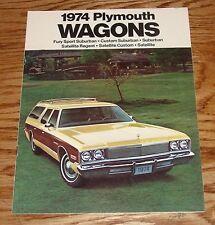 Original 1974 Plymouth Station Wagon Sales Brochure 74 Satellite Fury Sport