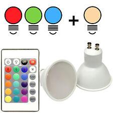 LED RGBW Spot 4W Birne Leuchte Leuchtmittel Farbwechsel RGB+W GU10+FERNBEDIENUNG