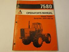 Allis Chalmers Operator's Manual 7580 Diesel Tractor LOTS More Listed LG6