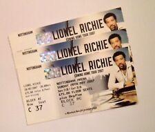 LIONEL RICHIE TICKETS - Unused Ticket Stub(s) Nottingham 20/05/07 Memorabilia
