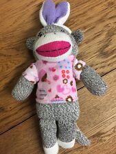 Sock Monkey 13 inch Plush w/ Bunny Ears. Dan  Dee. Preowned.