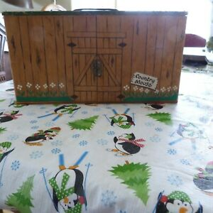 RARE Vintage FAOSchwarzCOUNTRY MOUSE HOUSE &  Accessories