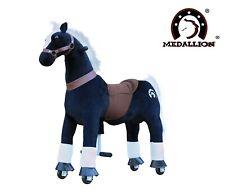 Medallion Rock Real Walk Ride on Pony Toy Horse Medium Black Knight Age 5-12 Yrs