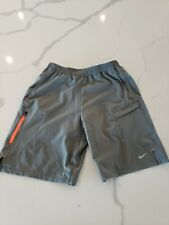 Nike Men's $80 EXPLORE TWO-IN-ONE 2-in-1 Dri-Fit Shorts - Gray sz S 548150